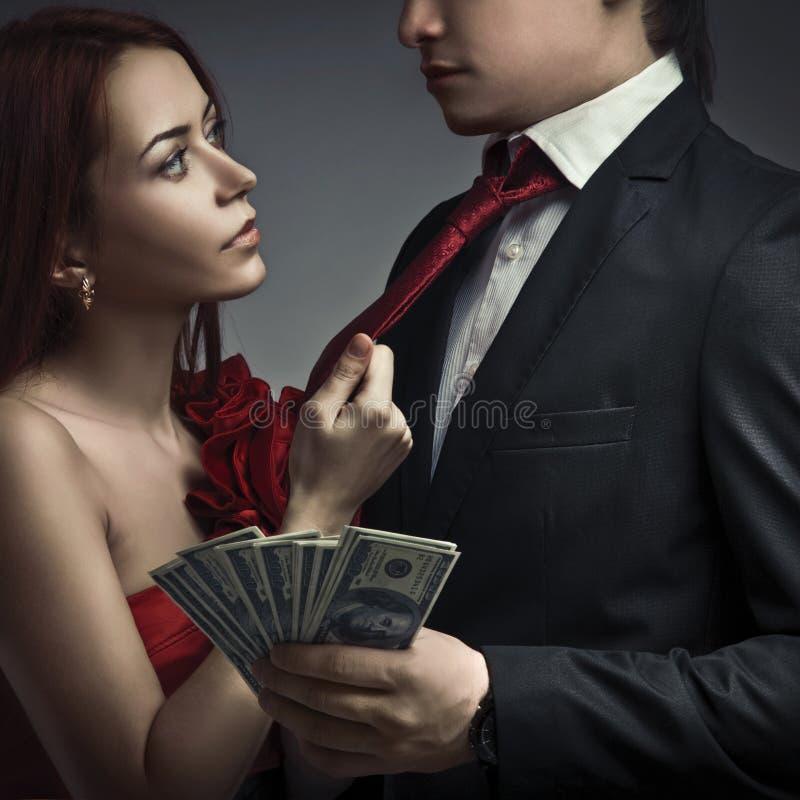 соединяет деньги стильные стоковые фото