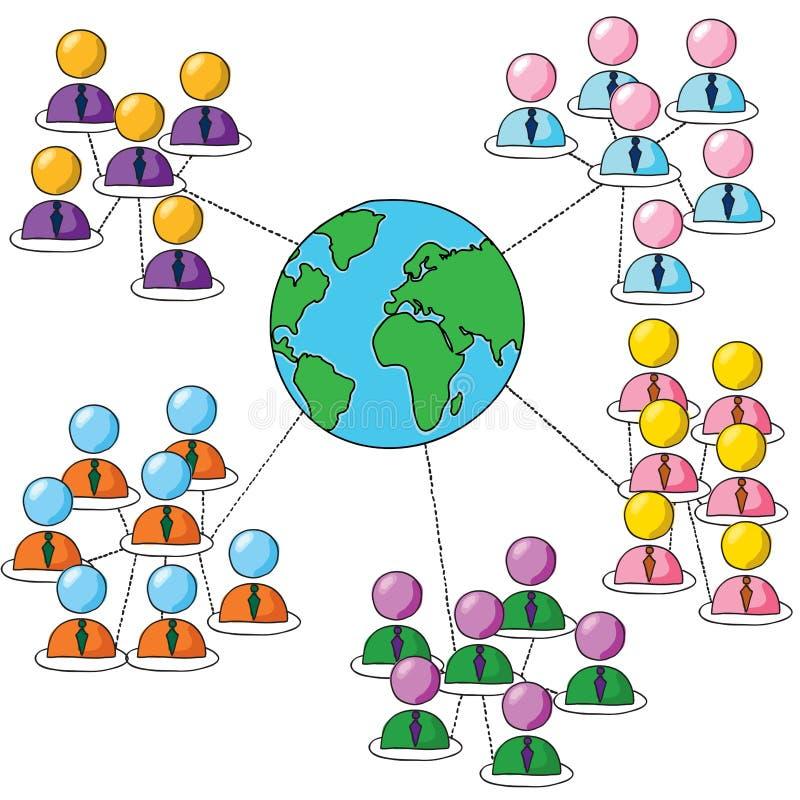 Соединяясь группы иллюстрация штока