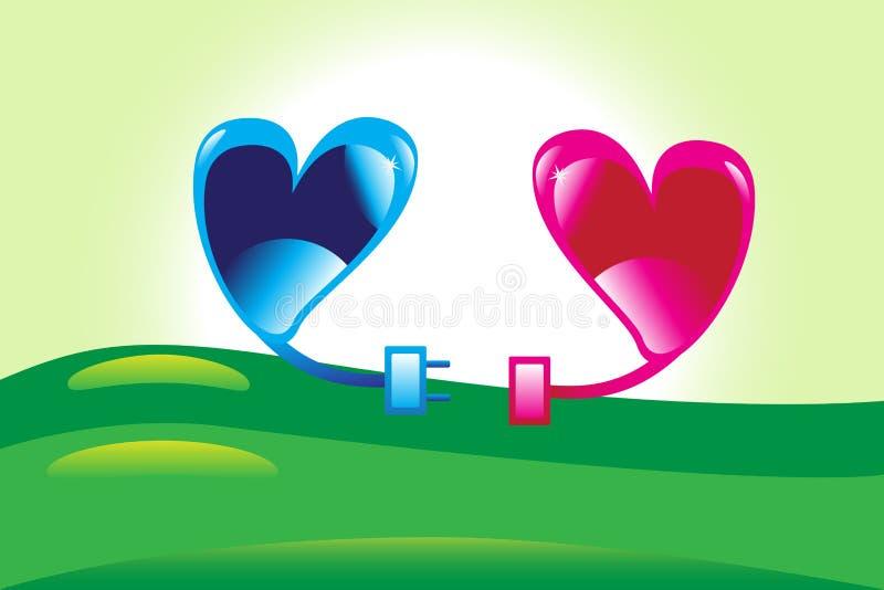 соединяясь сердца стоковое изображение