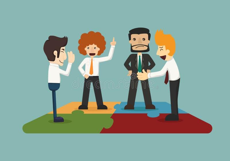 Соединение бизнесмена иллюстрация вектора