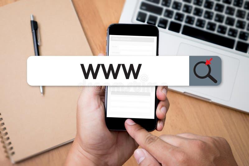 Соединение браузера компьютера интернет-страницы интернета вебсайта WWW онлайн стоковые фотографии rf