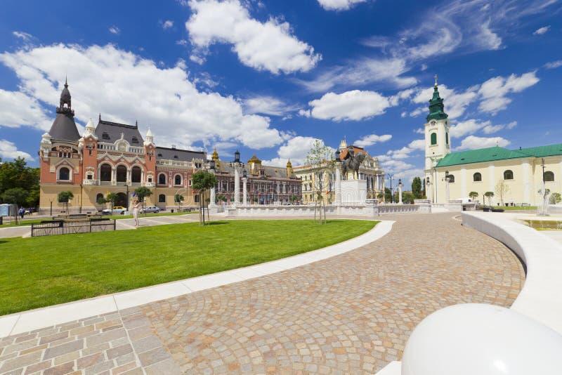 Соединение квадратное Piata Unirii Oradea, Румыния стоковое фото rf