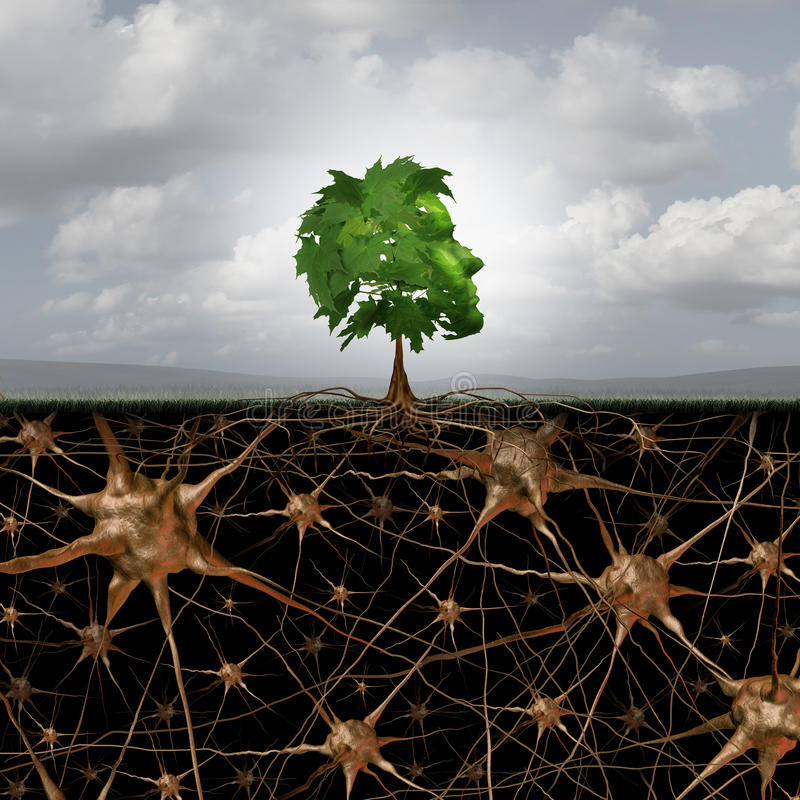 Соединение мозга нейрона бесплатная иллюстрация