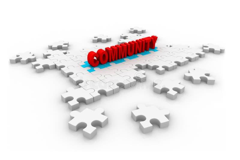 Соединение общины - головоломка иллюстрация штока
