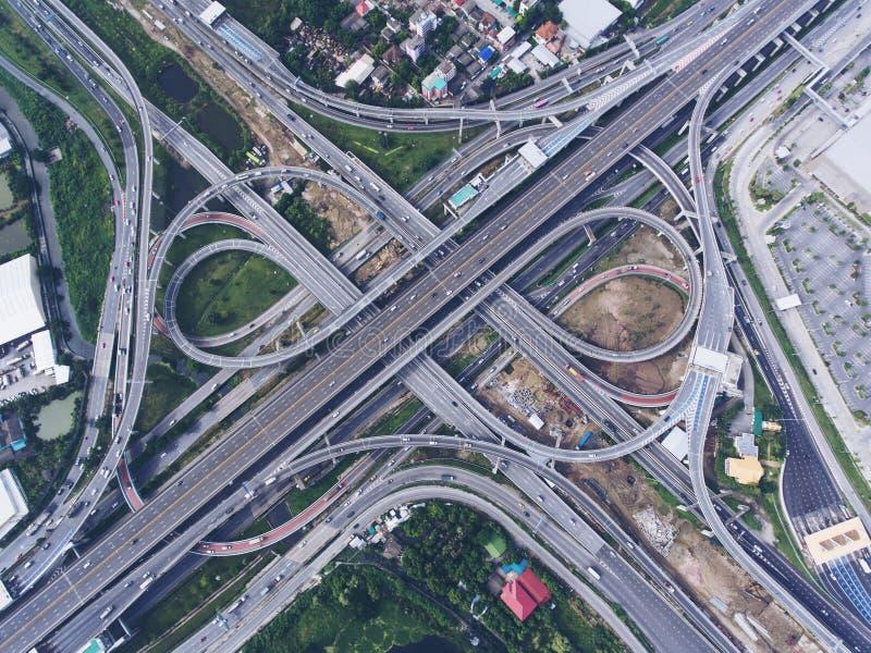 Соединение шоссе от вида с воздуха стоковое фото rf