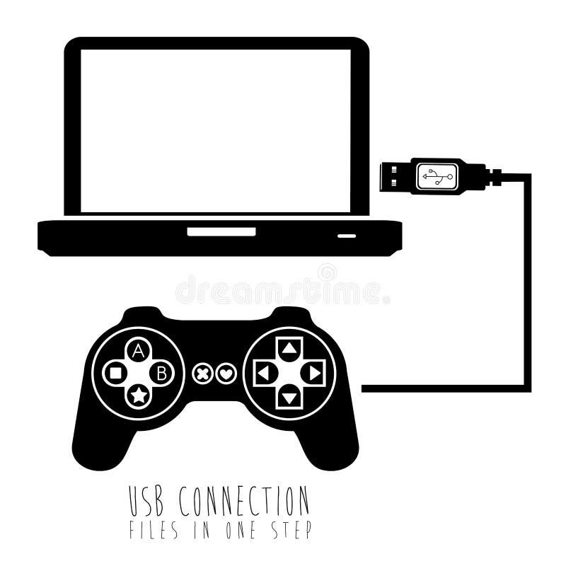 Соединение Usb иллюстрация штока