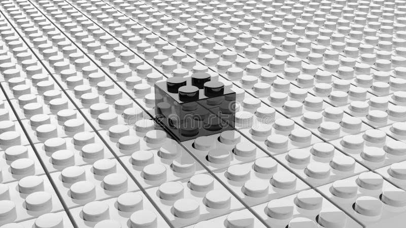 Соединенные белые блоки lego иллюстрация штока