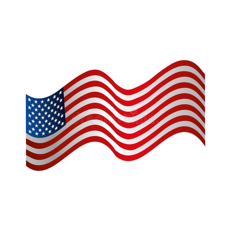 соединенные положения эмблемы америки иллюстрация вектора