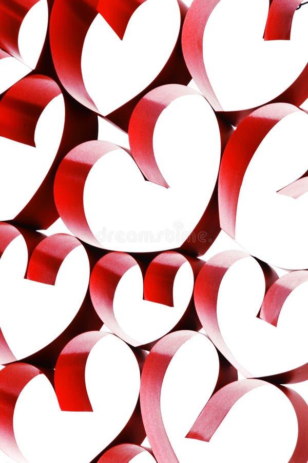 Соединенные сердца ленты стоковое изображение