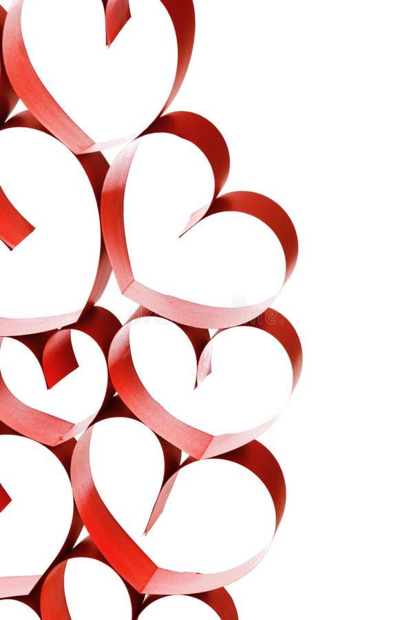 Соединенные сердца ленты стоковое изображение rf