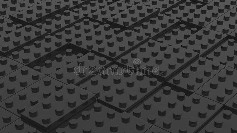 Соединенные черные блоки lego абстрактное дело предпосылки 3d il бесплатная иллюстрация