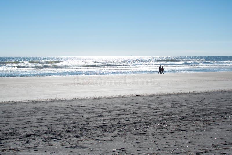 Соедините идти вдоль бечевника на пляже в Флориде стоковые изображения