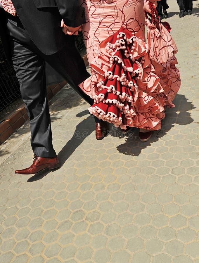 Соедините идти поспешить к Севилье справедливо стоковые изображения rf