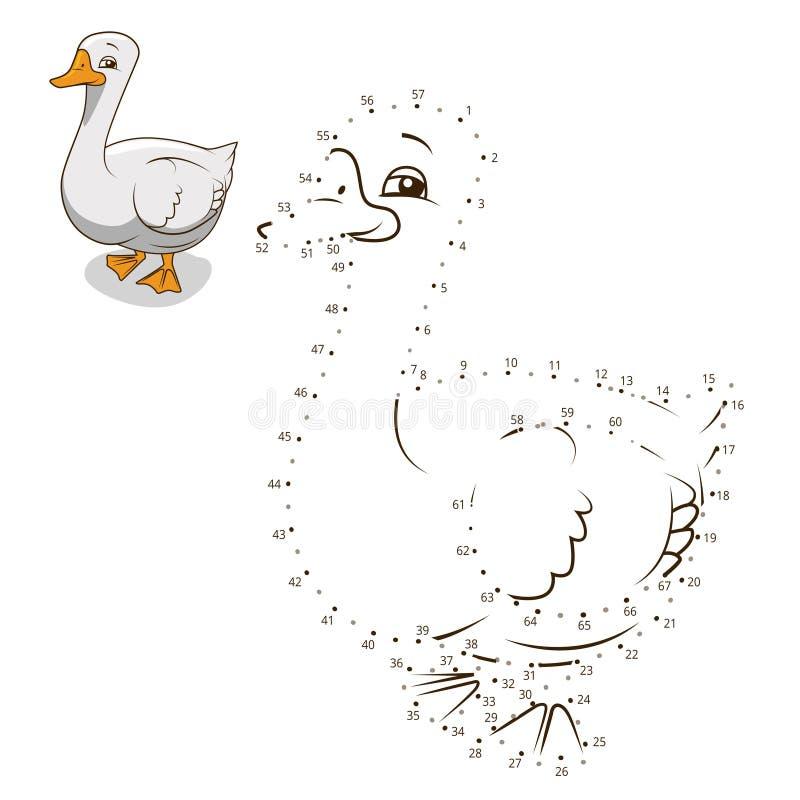 Соедините иллюстрацию вектора гусыни игры точек бесплатная иллюстрация