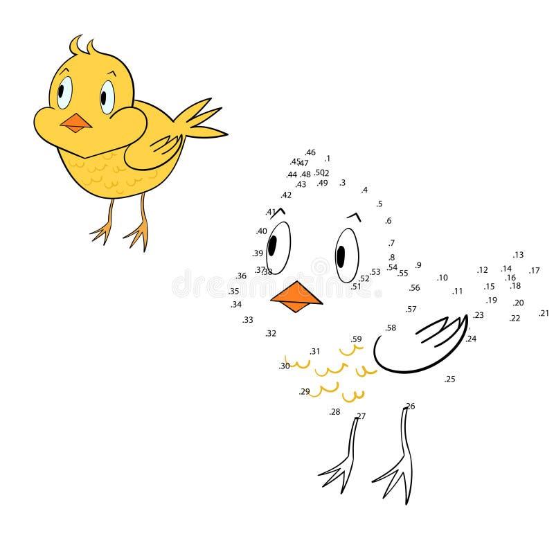 Соедините иллюстрацию вектора цыпленка игры точек иллюстрация вектора