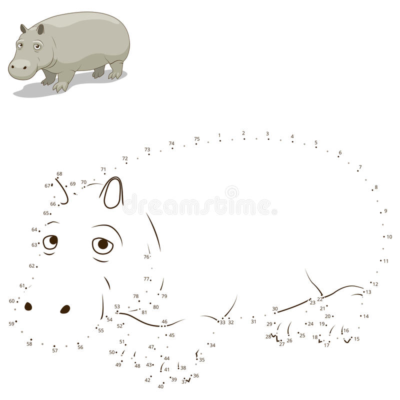 Соедините точки к игре притяжки животной воспитательной бесплатная иллюстрация