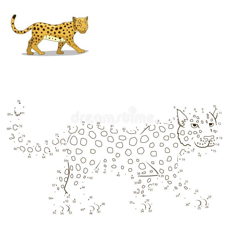 Соедините точки к игре притяжки животной воспитательной иллюстрация штока