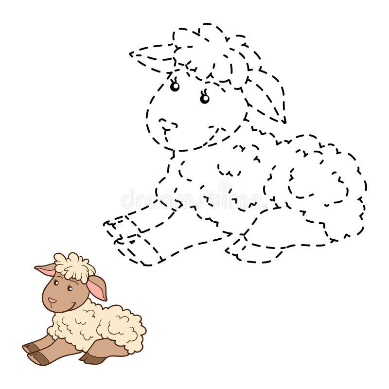 Соедините точки (лошадь) иллюстрация вектора. иллюстрации ...