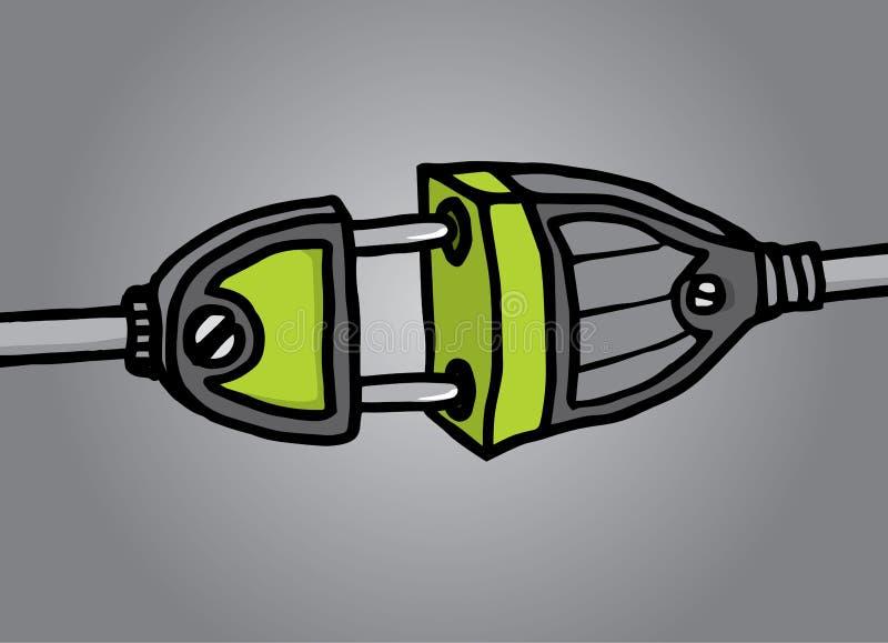 Соединять штепсельную вилку электричества иллюстрация вектора