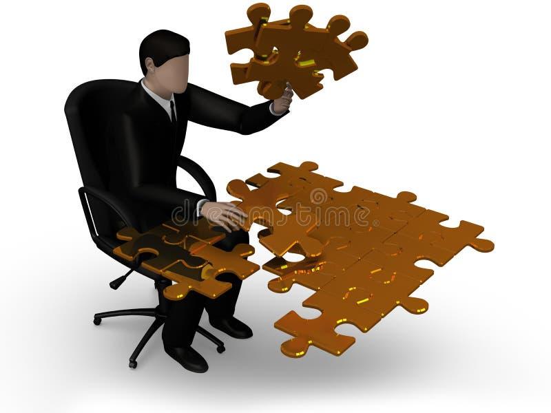 Соединяясь зигзаг головоломки стоковое изображение