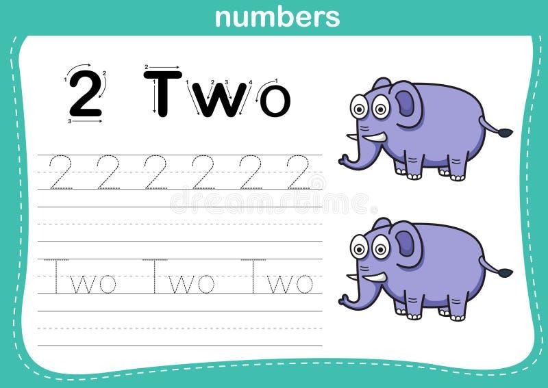Соединяясь точка и printable тренировка номеров иллюстрация вектора