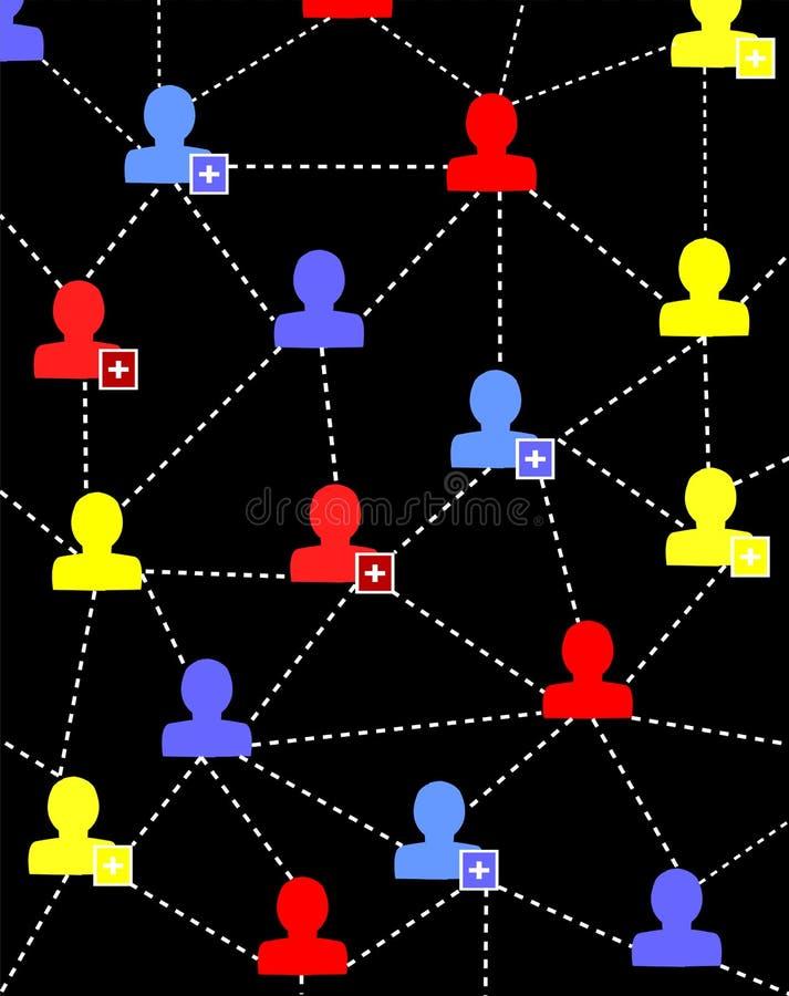 Соединяясь люди иллюстрация вектора