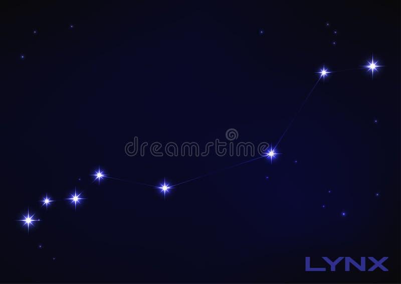 Созвездие рыся иллюстрация вектора