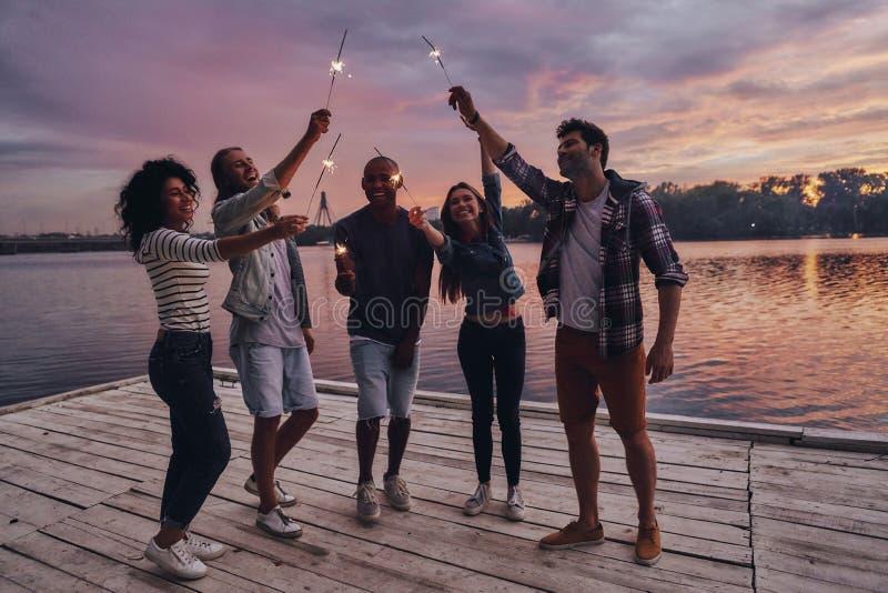Создавать счастливые памяти стоковое фото