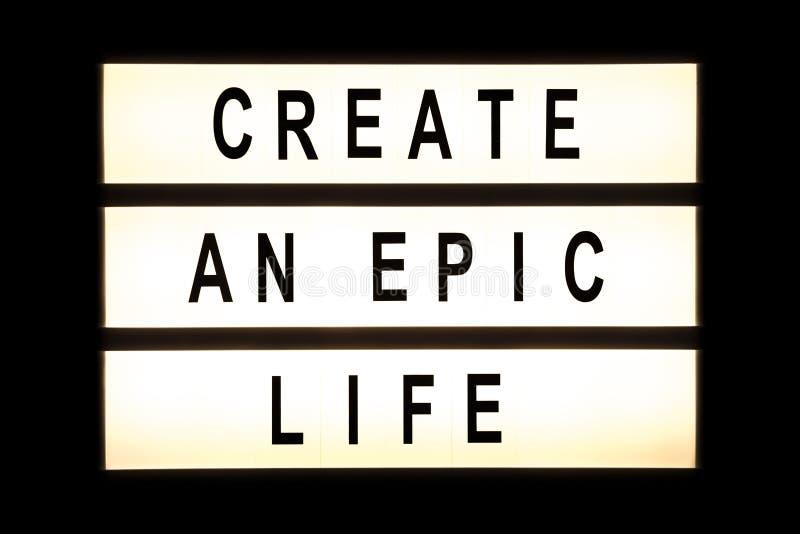 Создайте былинную жизнь вися светлую коробку стоковые фотографии rf