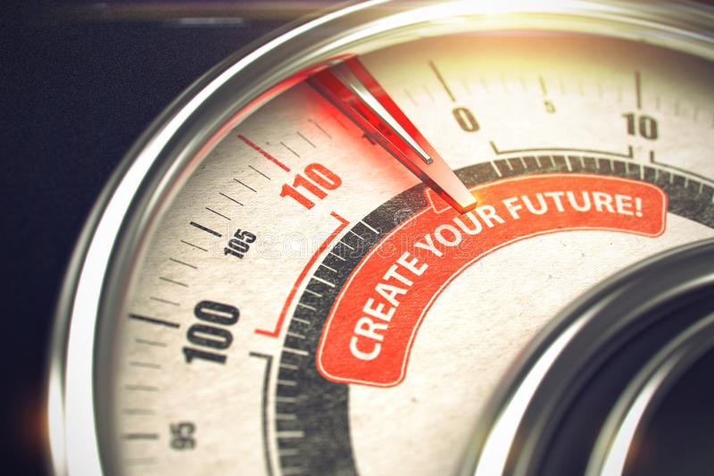 Создайте ваше будущее - концепцию режима дела 3d стоковые изображения