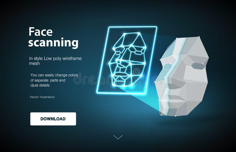 Создание электронного ключа Концепция сканирования стороны Концепция обнаружения стороны путем просматривать выдвижение технологи бесплатная иллюстрация