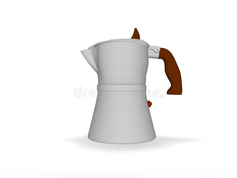 создатель espresso кофе иллюстрация вектора