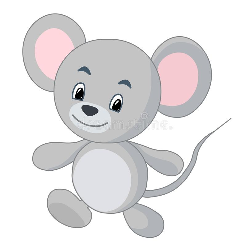 Cute mouse. Funny vector illustration. royalty free stock image