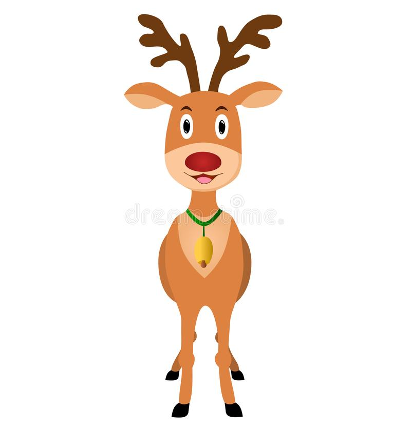 Reindeer figure. Christmas vector illustration. royalty free stock photo