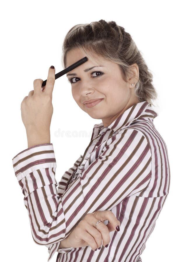 созерцательная женщина стоковые изображения rf