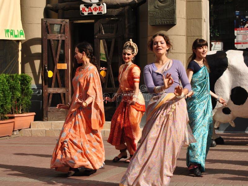 Сознавание Krishna танцев стоковая фотография