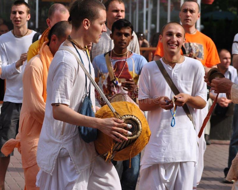 Сознавание Krishna танцы стоковое изображение rf