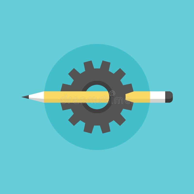 Создавать отростчатую плоскую иллюстрацию значка иллюстрация вектора