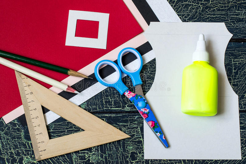 Создавать праздничное украшение для сервировки стола для Christma стоковое изображение rf