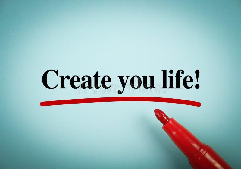 Создайте вашу жизнь стоковые фотографии rf