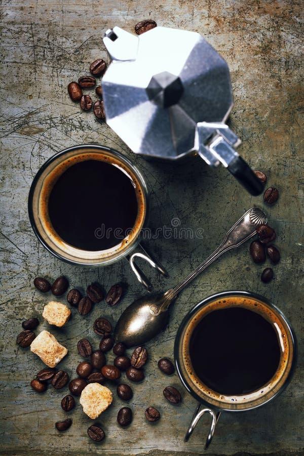 Создатель кофе и эспрессо стоковое изображение rf