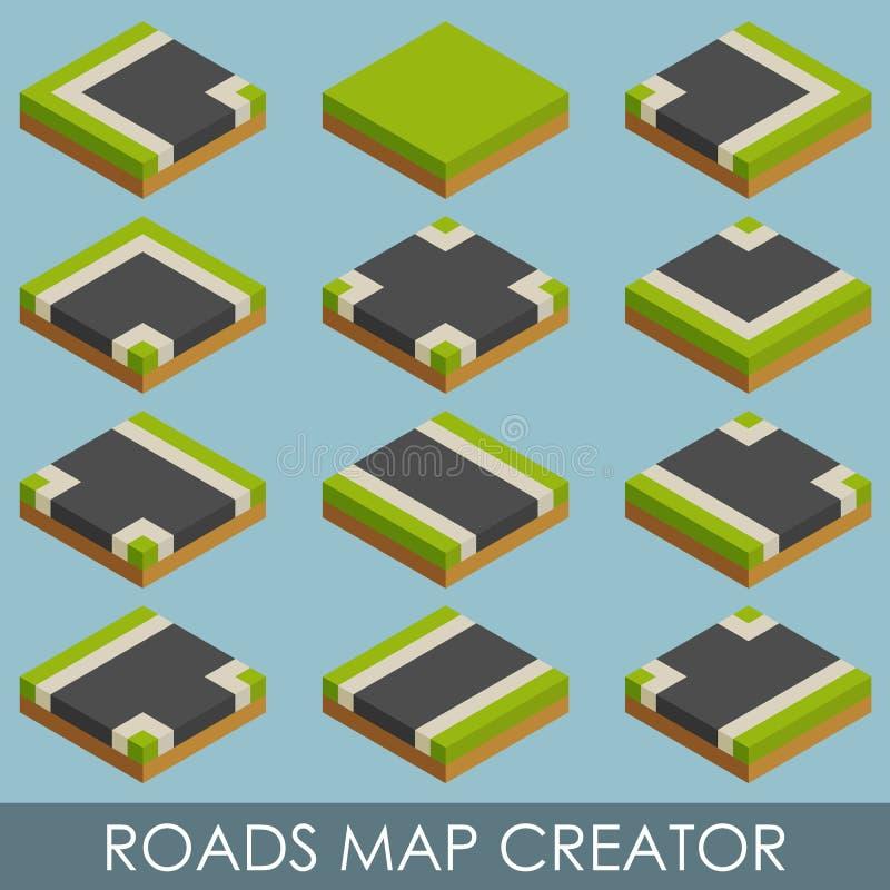 Создатель дорожной карты равновелико бесплатная иллюстрация