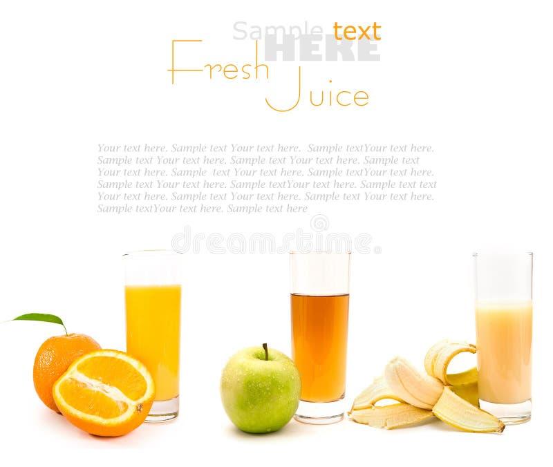 соки свежих фруктов стоковые фотографии rf