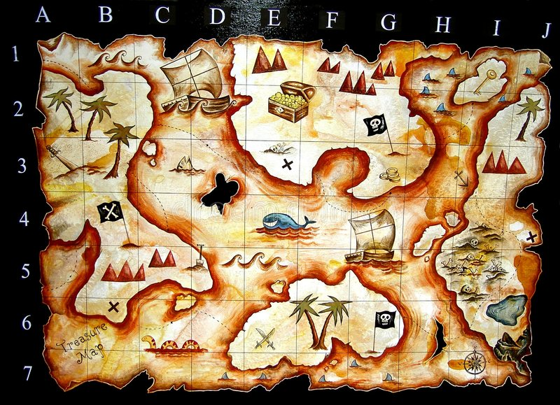 сокровище карты иллюстрация штока