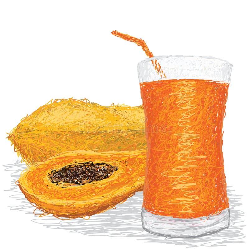Сок папапайи бесплатная иллюстрация