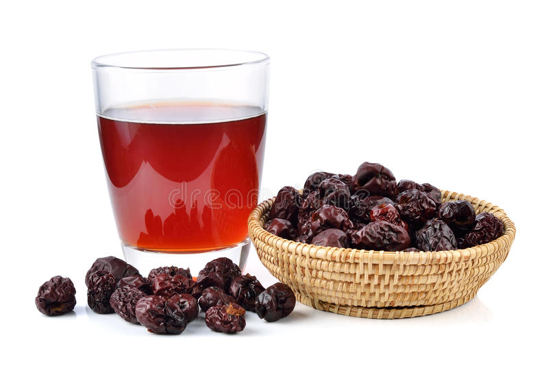 Сок Jujube и высушенные плодоовощи jujube стоковые фотографии rf