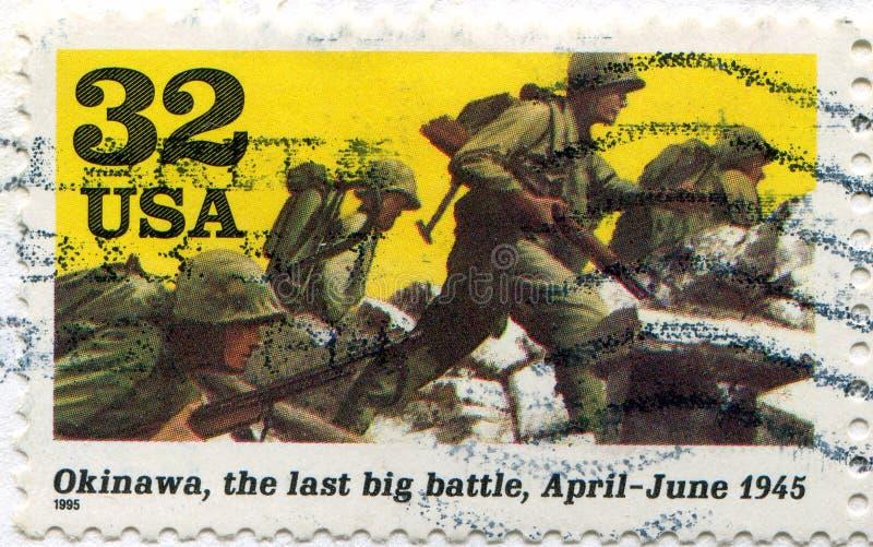 Солдаты выдвигая Окинаву стоковая фотография