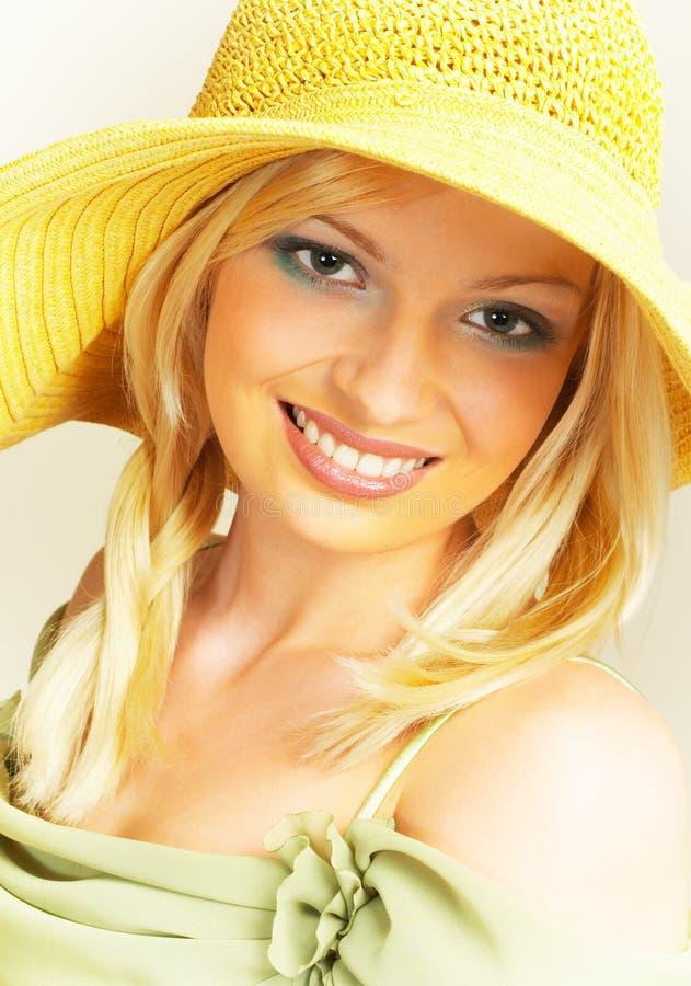 солнечная женщина стоковое изображение rf