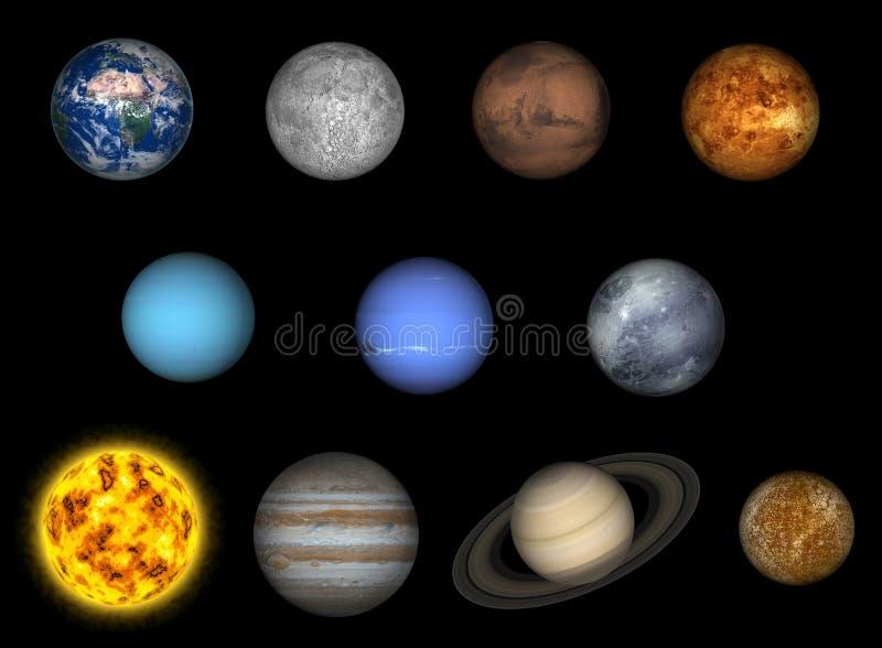 солнечная система иллюстрация штока