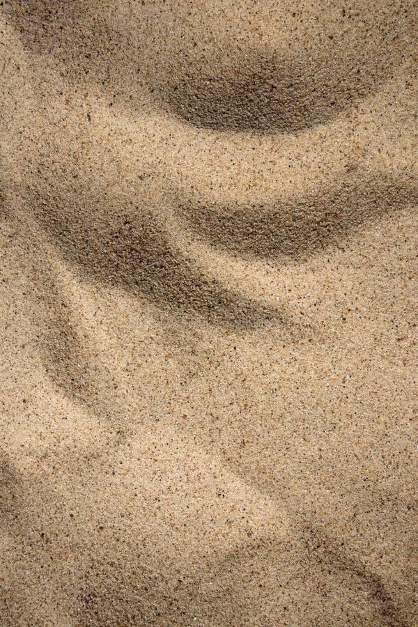 Солнечная текстура песка, малые эксцентричные дюны на пляже стоковая фотография